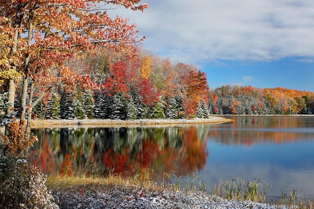 фото природа осень зима