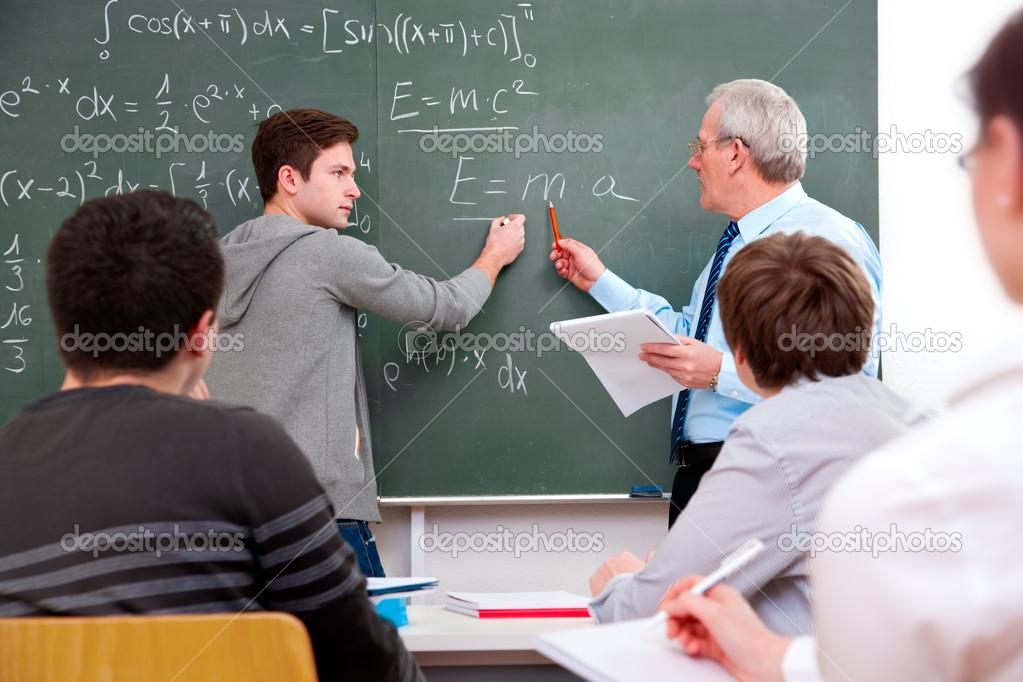 Фото студентка и преподаватель