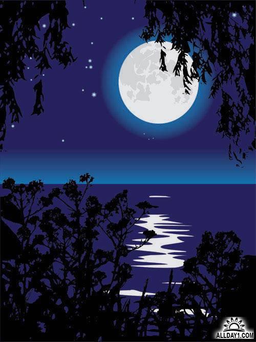 Фото как нарисовать ночь