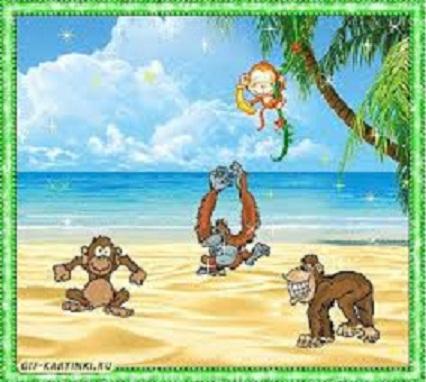 Картинки с обезьяной анимация