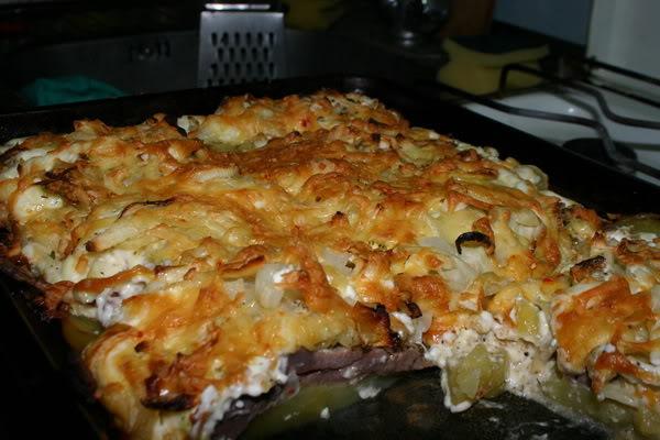 Мясо по-французски рецепт с фото пошагово с картофелем и помидором