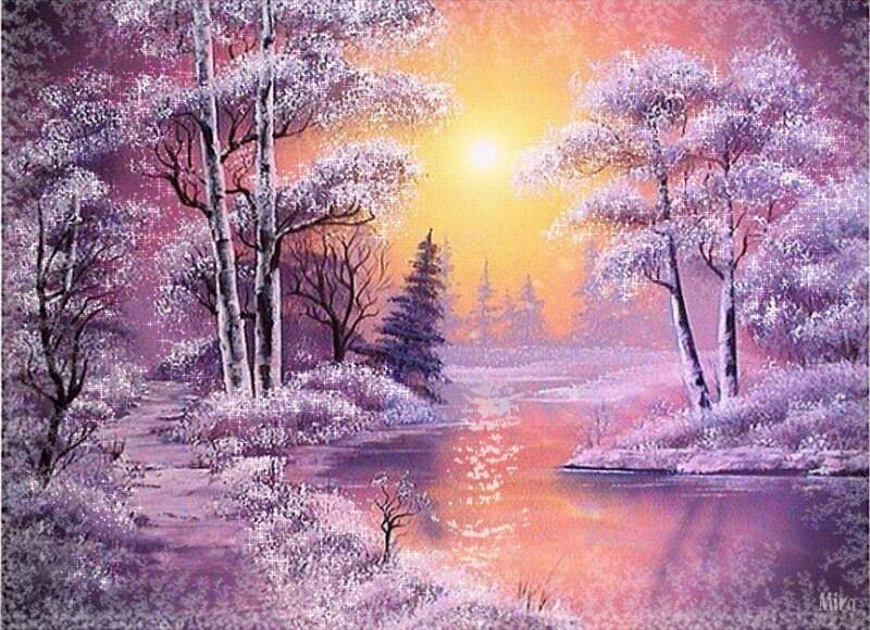 Открытки, зима красивые картинки гиф