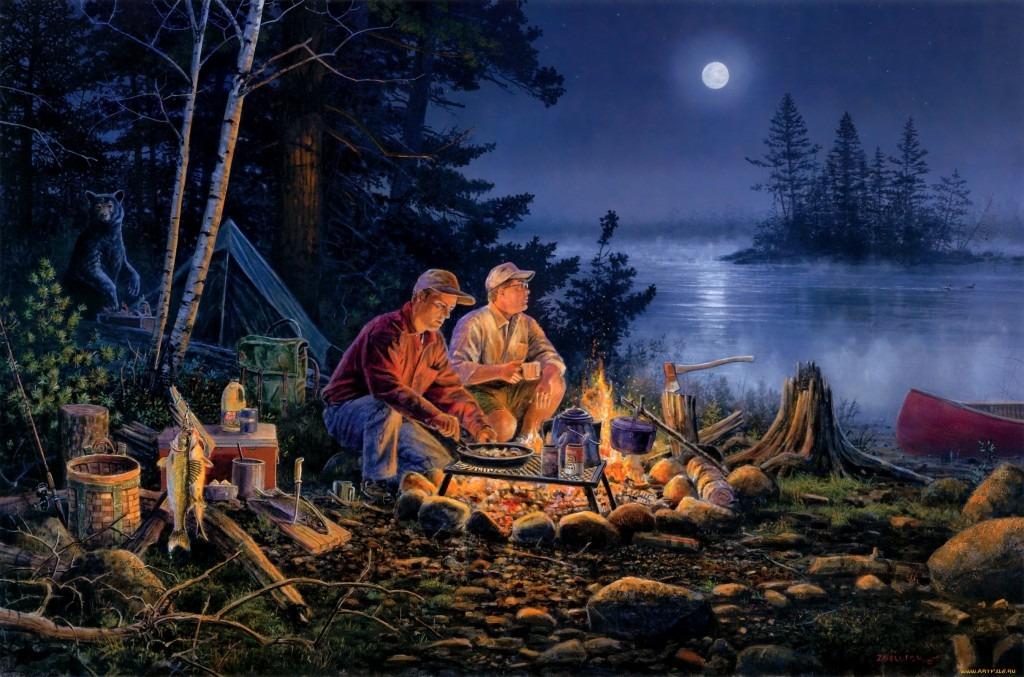 свет и тепло на рыбалке
