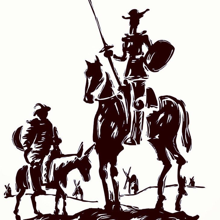 idealism vs pragmatism in don quixote One day, he decides to become a knight and go out in search of adventure he renames himself don quixote de la mancha, and his horse rocinate he enlists sancho panza, a neighbor, to be his squire, promising him governorship of an island the two sneak off in the early dawn, and the adventures begin the first example of idealism vs ragmatism.