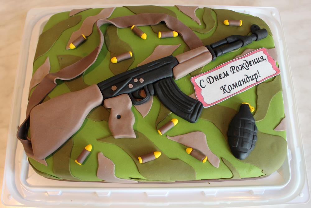 Фотографии детских военных тортов