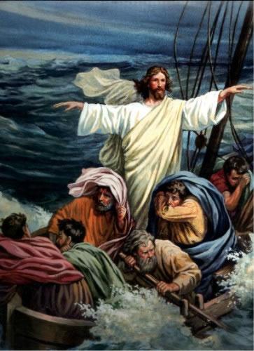 Иисус усмиряет бурю поделка