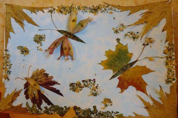 Поделки из сухих листьев своими руками с ребенком - Поделки своими руками, Поделки из различных