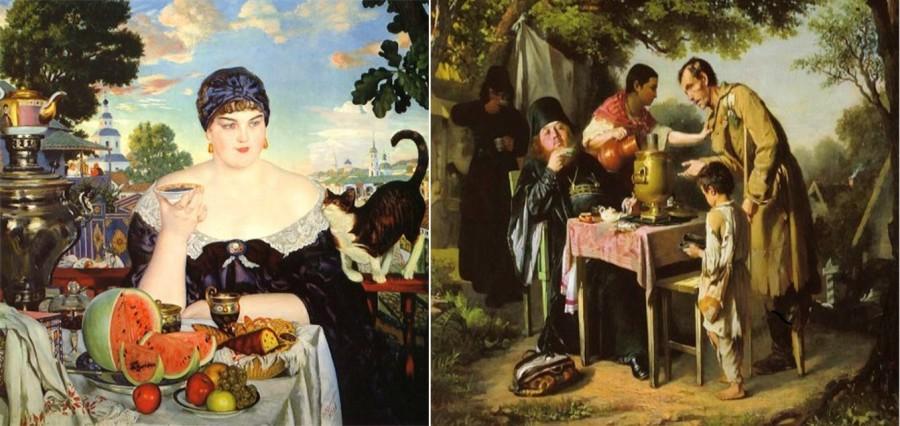 Чаепитие в мытищах , близ москвы 1862