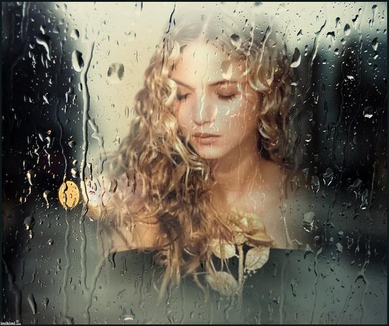 Картинки дождь за окном и девушка, для мужчины юбилеем