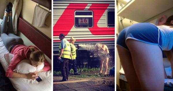 в поезде фото девушек