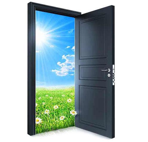 открыть металлические двери