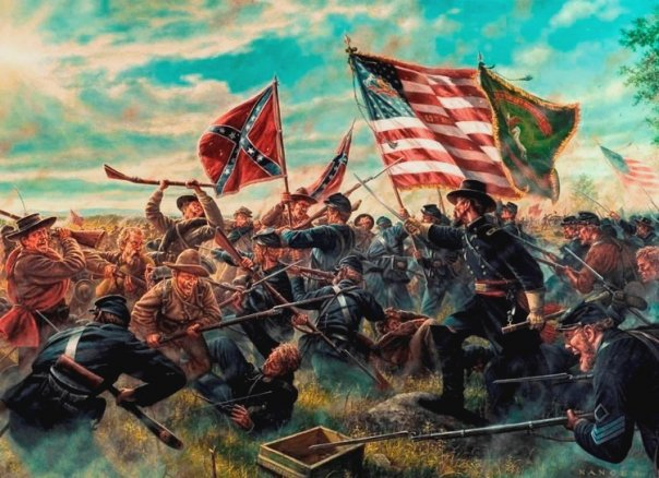 the soldier in battle of gettysburg were fighting for another mans freedom