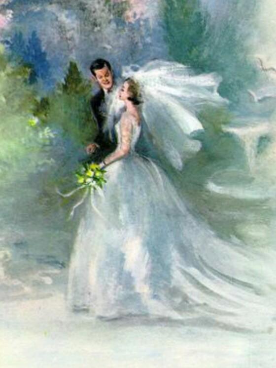 Свадьба старинные открытки, мебели