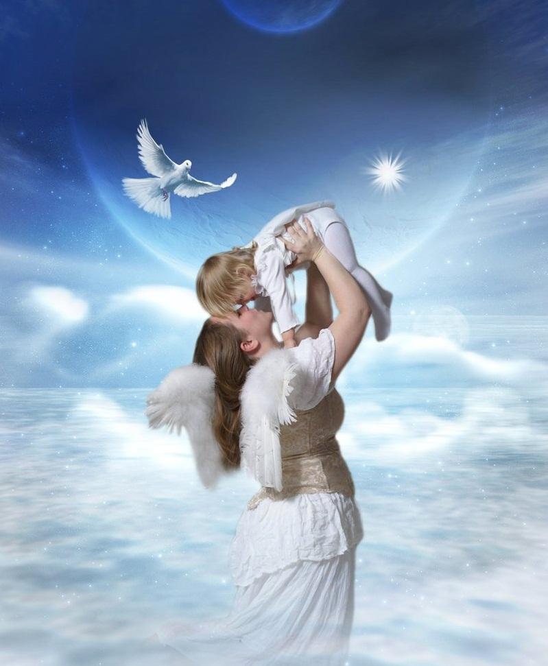 Открытка ангел как любовь, рамочки