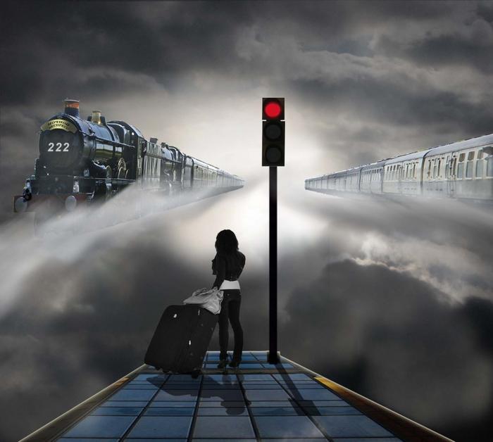 старый год как уходящий поезд