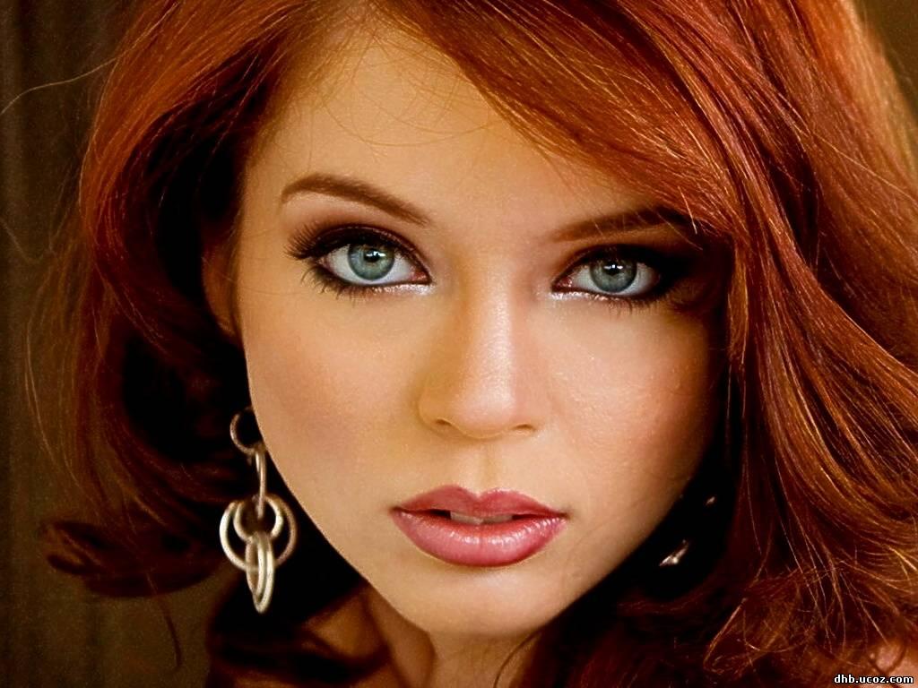 Рыжий волос карие глаза макияж