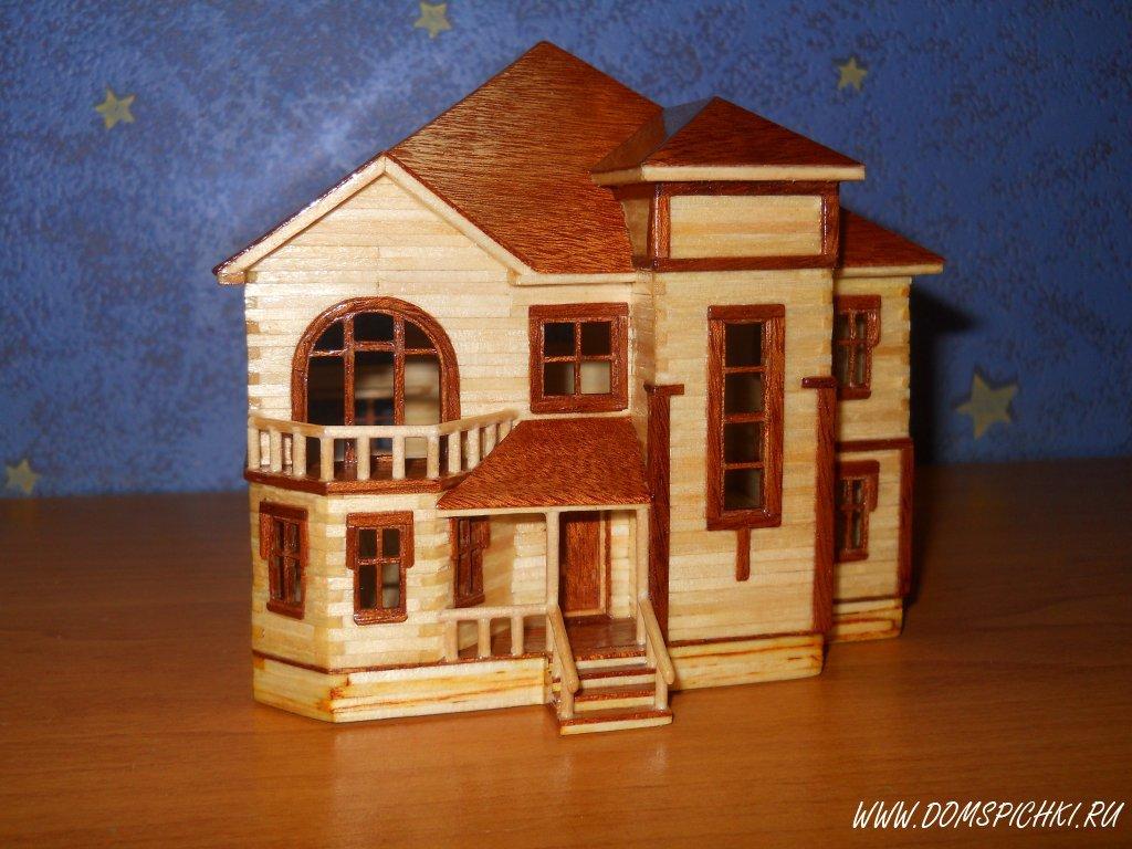 Дома из спичек своими руками с клеем