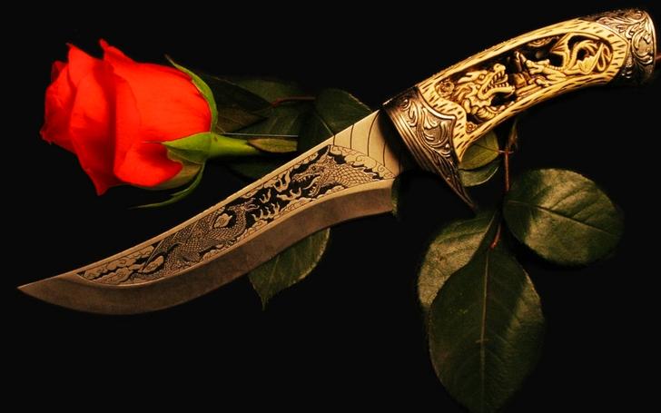 Розы и ножи в картинках