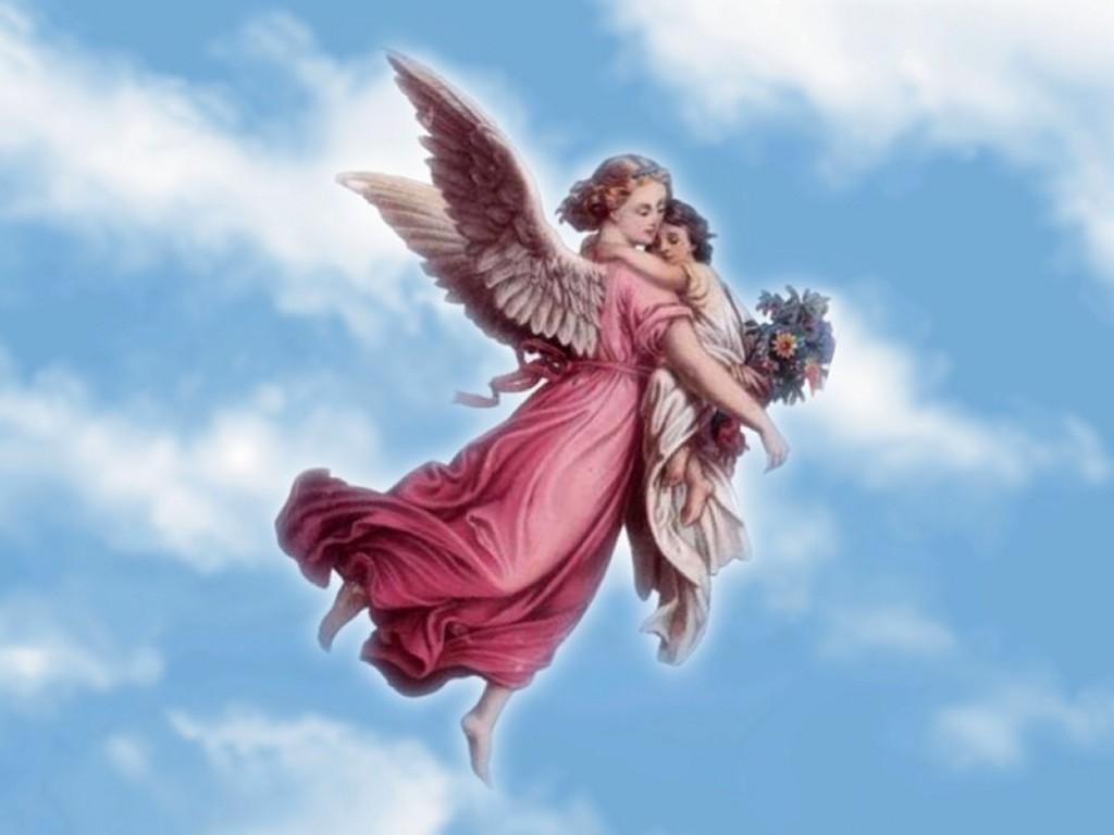 Открытка с неба ангелы, открытка годом