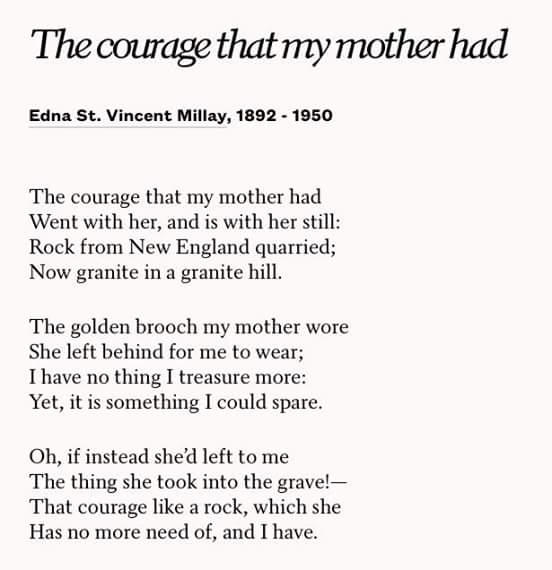 the courage that my mother had essay The person that has influenced my life is my mother because she is the one person that has always stood by my side, and always she encourages me to be the reach my.