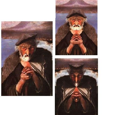 картина старый рыбак бог и дьявол венгерский художник