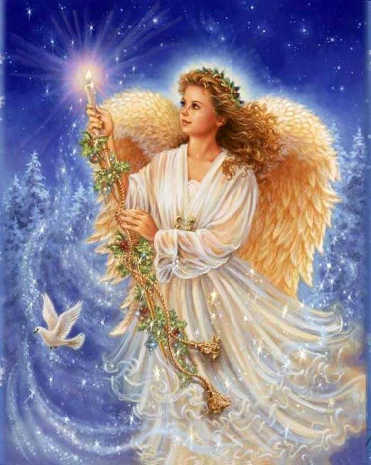 Рождественские открытки с ангелочками, необычные
