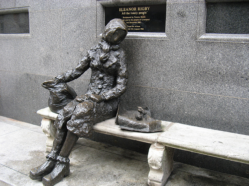 loneliness as the main theme in the poem eleanor rigby Get an answer for 'what is the conflict in miss brill by katherine mansfield' and find homework help for other miss brill like eleanor rigby in the old.