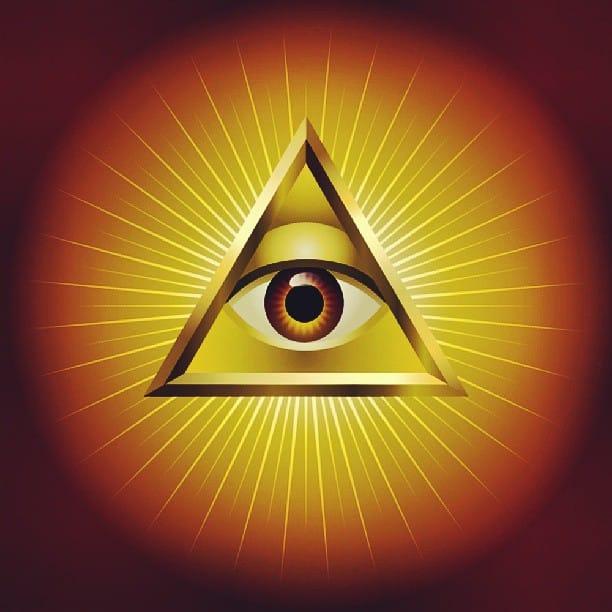 Всевидящее око божие дерево, левкас, темпера, твореное золото