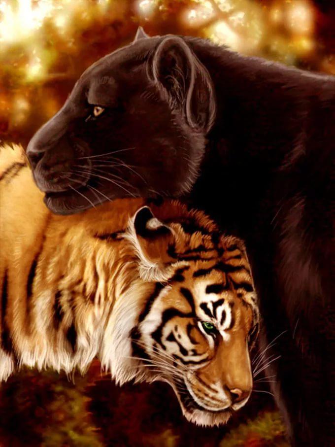 научим вас фотографии символы в японии тигра пантеры и льва что