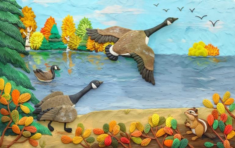 Сделать поделку о природе из пластилина
