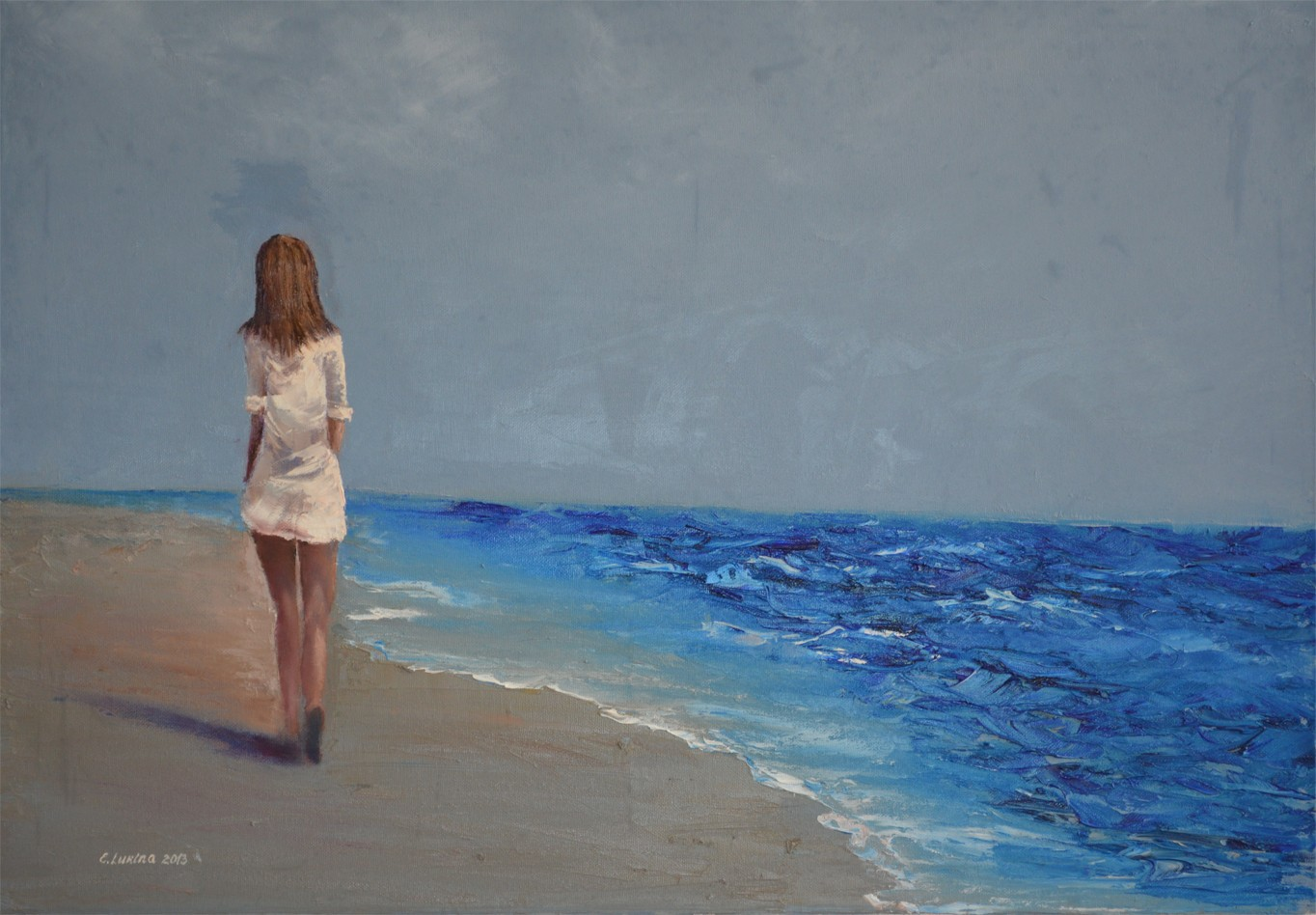 Картинки девушка у моря со спины карандашом, дню матери стихи