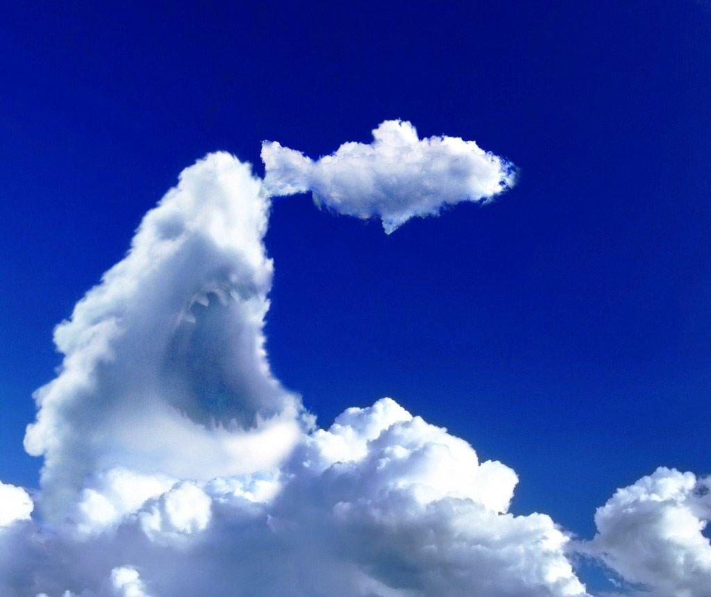 На что похожи облака картинки