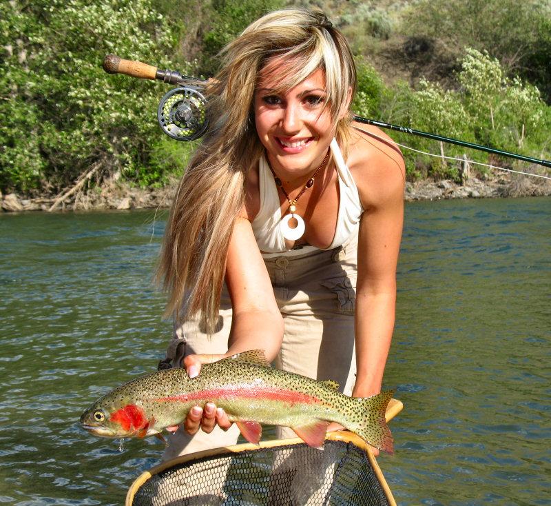 девушка рыболов фото