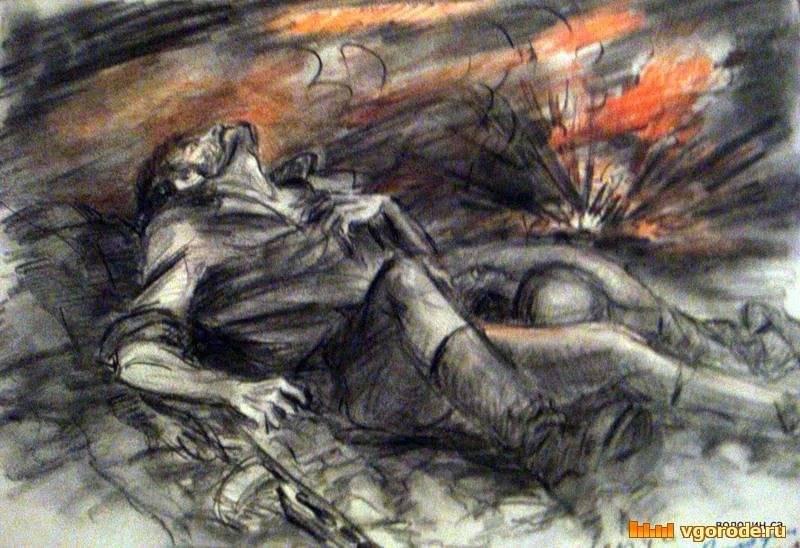 Погибший солдат рисунки
