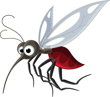 Детский рисунок комара