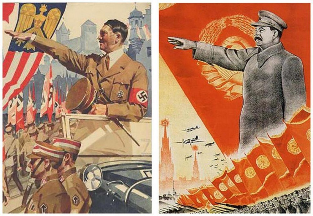 ideologies of hitler and stalin