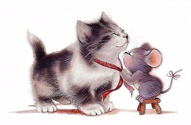 возникла мышонок и котенок картинки встретил победу