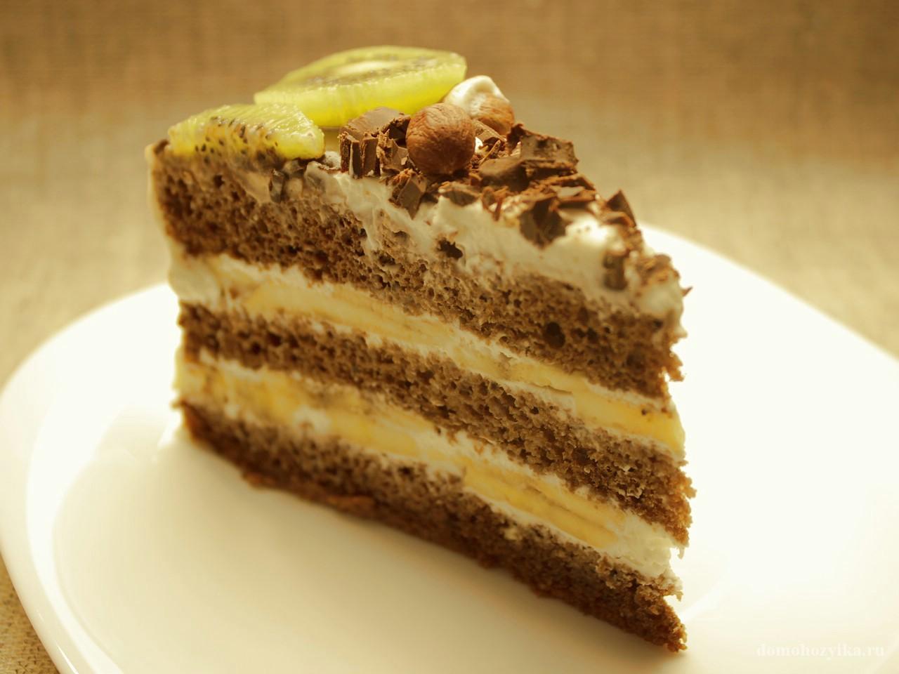 Банановый торт с шоколадом рецепт с фото пошагово