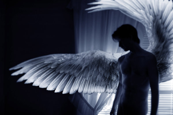 Картинки белого ангела мужчины