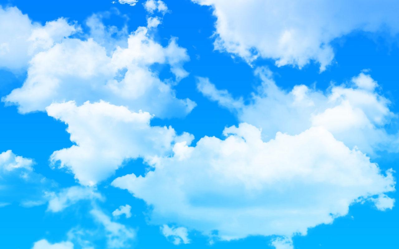 Голубое небо для открытки