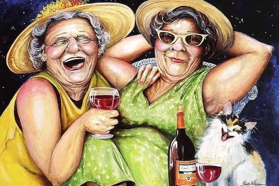 Смешные картинки бабки, для поздравления подруги