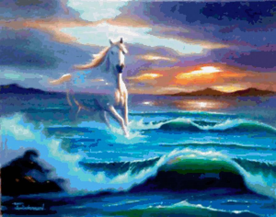 Бегущая по волнам вышивка 537