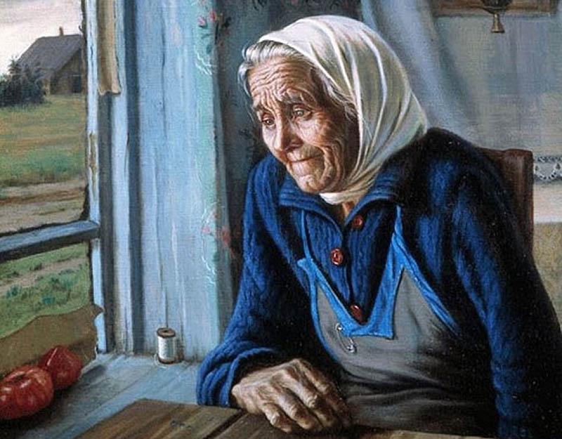 Рисунок старой мамы