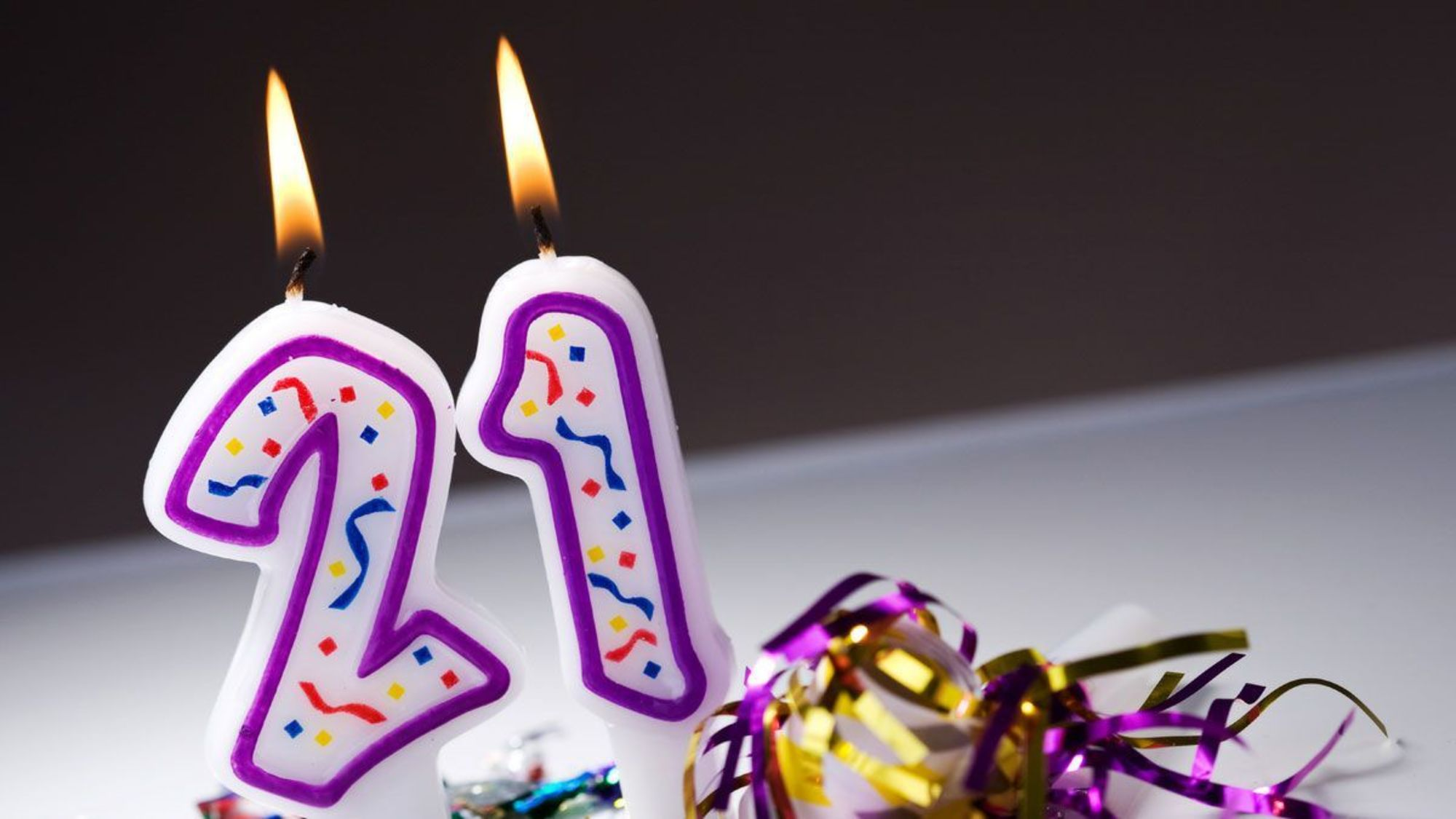 Открытка с 21 днём рождения 623