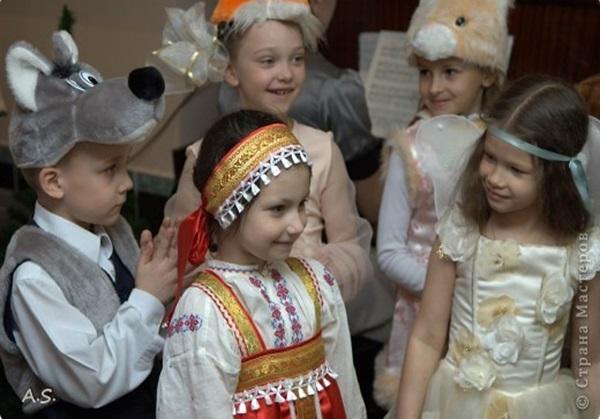 Русский костюм своими руками с ребенком