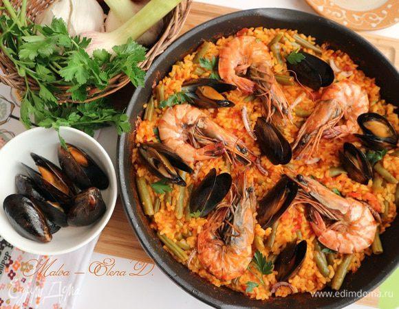 Рецепты паэльи с морепродуктами