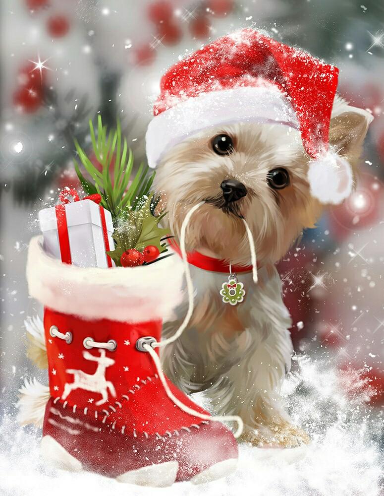 Картинки с новым годом 2018 год собаки, любимому словом прости