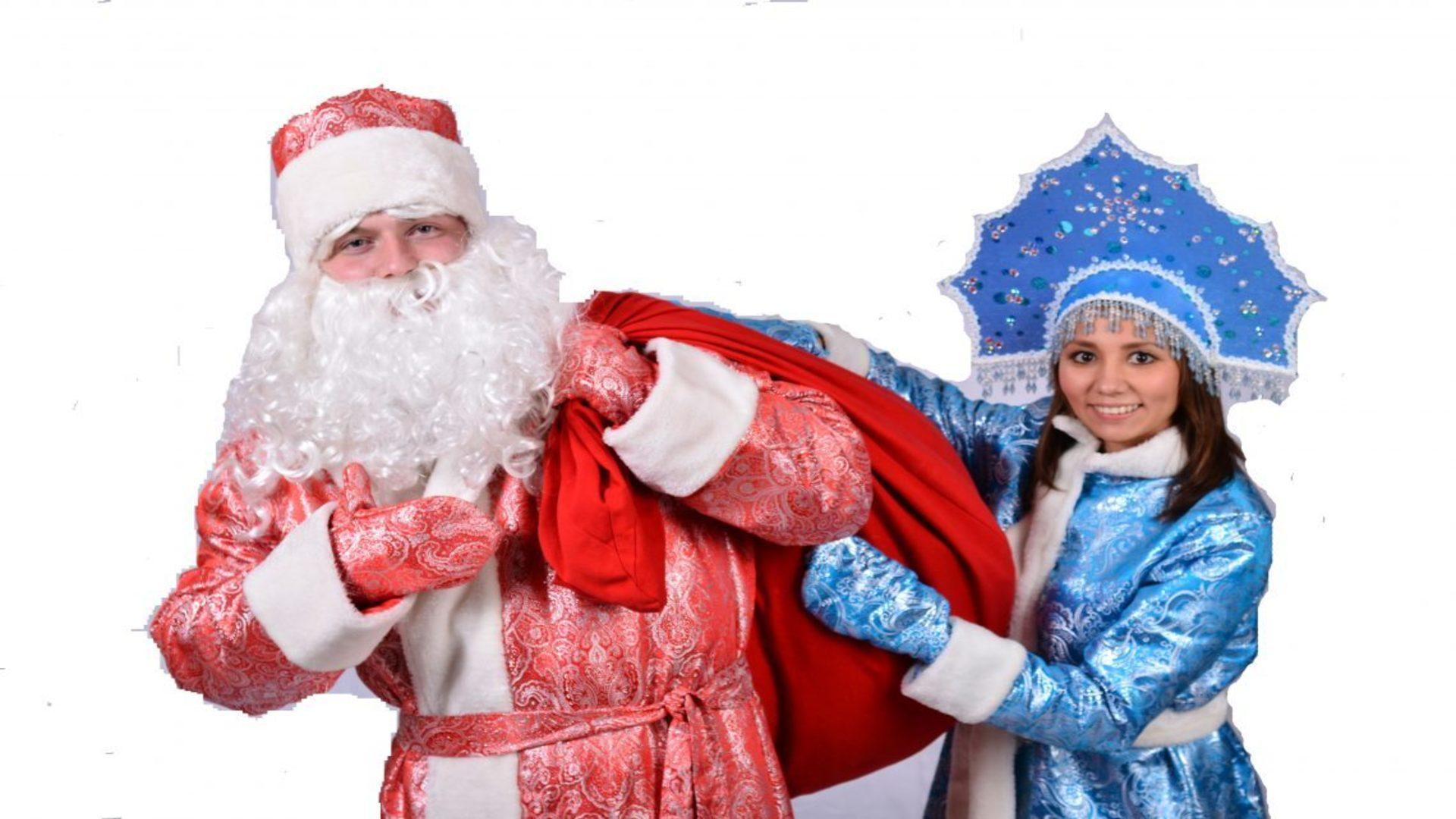 Русский дед мороз и снегурочка обои 7