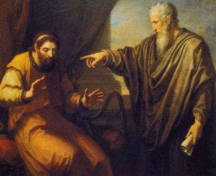 a view into the rebuking of david by nathan in the bible David is pacing the roof of his palace from where he has a view of the bible states clearly that david nathan had predicted david goes into a.
