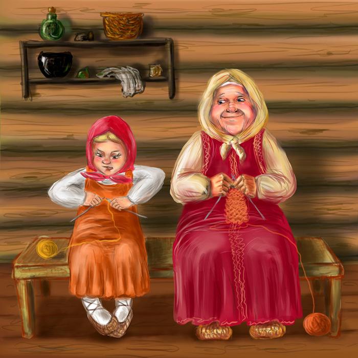 Интересные, прикольные картинки бабушка и внучка